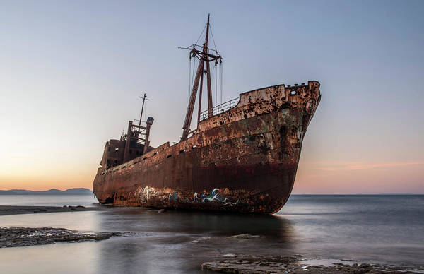 Photograph - Dimitrios Wreck On The Beach by Jaroslaw Blaminsky