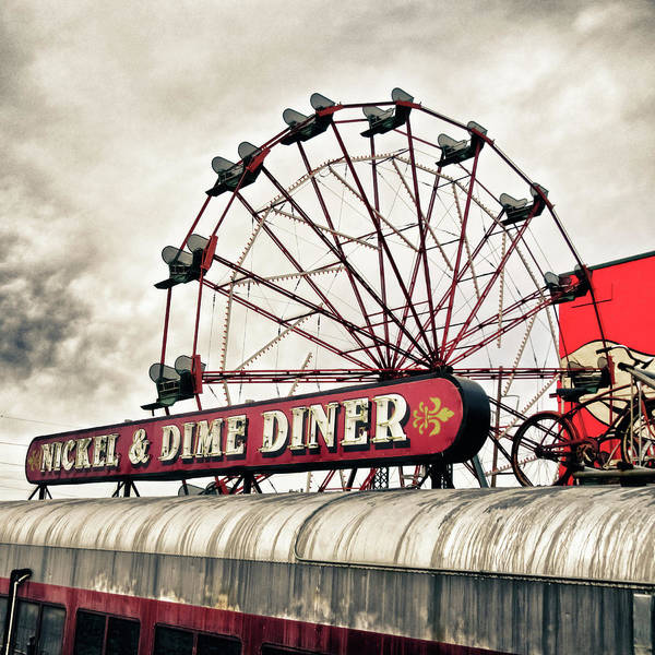 Wall Art - Photograph - Diner Car Ferris Wheel Square Format by Tony Grider