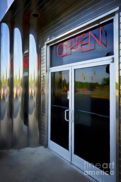 Digital Art - Diner Doors by Patrick M Lynch