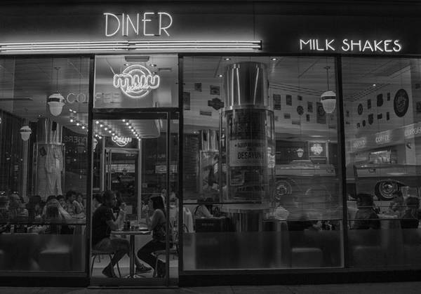 Milk Shake Photograph - Diner Place by Hans Wolfgang Muller Leg