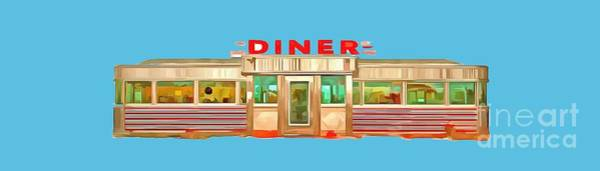 Wall Art - Painting - Diner Tee by Edward Fielding