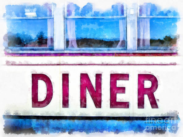 Wall Art - Painting - Diner Watercolor by Edward Fielding