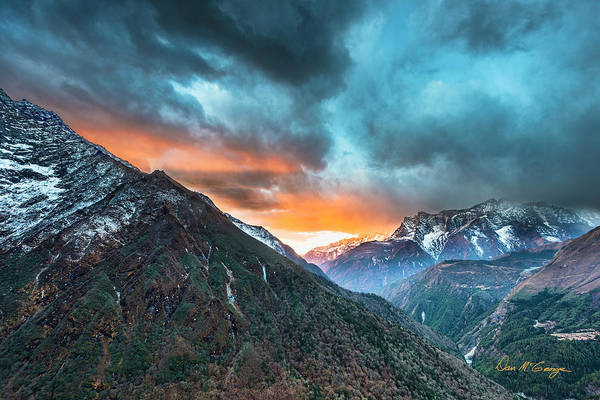 Photograph - Dingboche Sunrise by Dan McGeorge