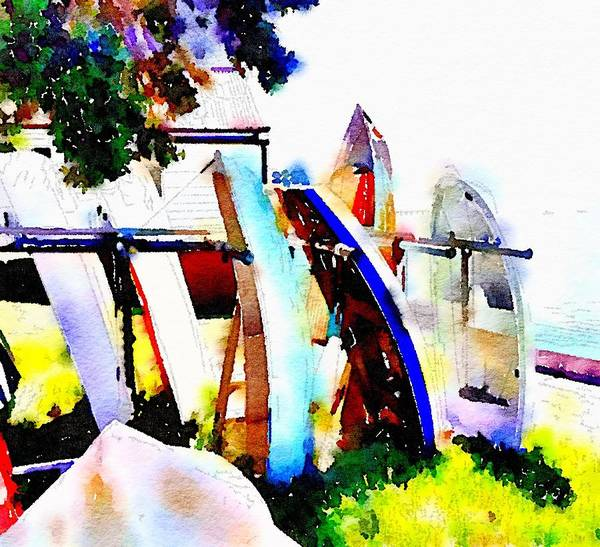 Devonport Wall Art - Digital Art - Dinghies At Devonport by Clive Littin