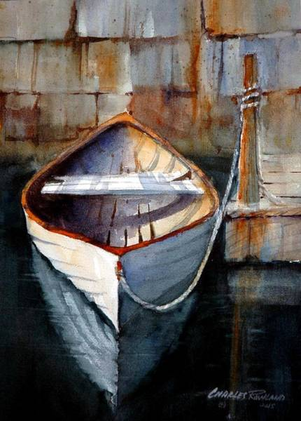Painting - Dinghy At The Dock by Charles Rowland