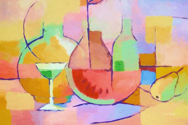 Painting - Dining Art by Lutz Baar