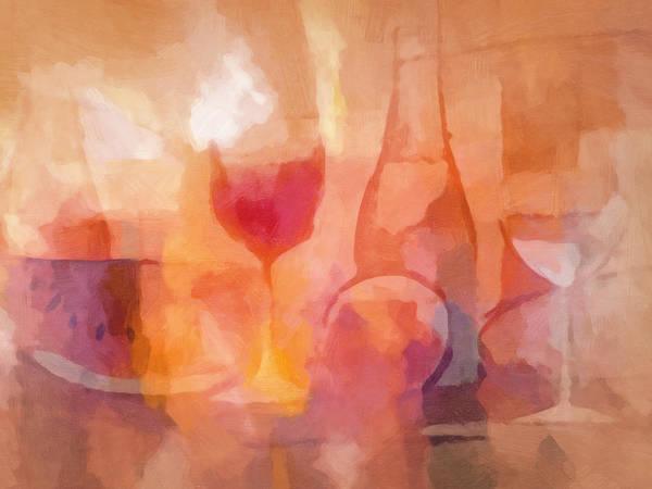 Painting - Dining Mood by Lutz Baar
