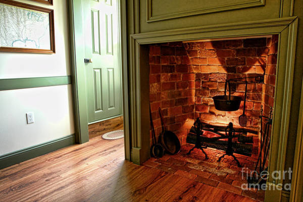 Photograph - Dining Room Fireplace by Olivier Le Queinec