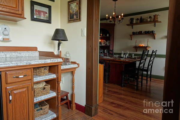 Photograph - Dining Room From Kitchen by Olivier Le Queinec