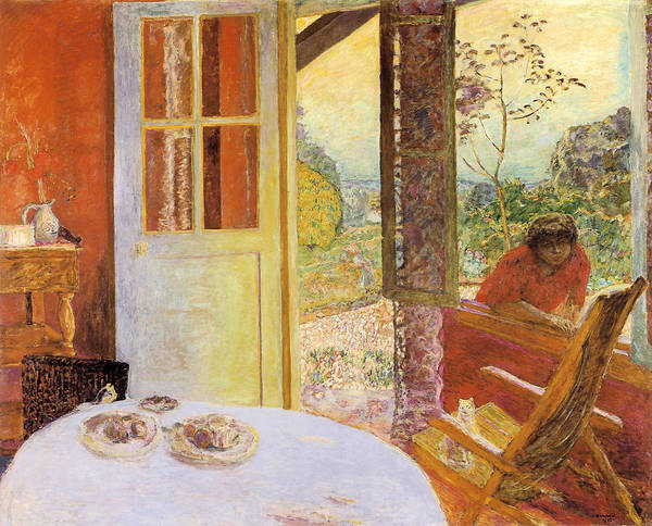 Rocking Chairs Painting - Dining Room In The Country by Pierre Bonnard