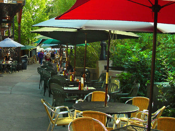 Photograph - Dining Under The Umbrellas by James Eddy