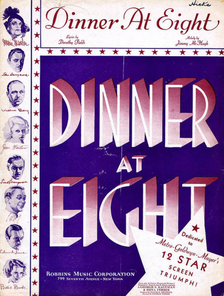 Tin Pan Alley Photograph - Dinner At Eight by Mel Thompson