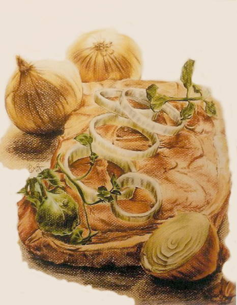 Drawing - Dinner by Barbara Keith
