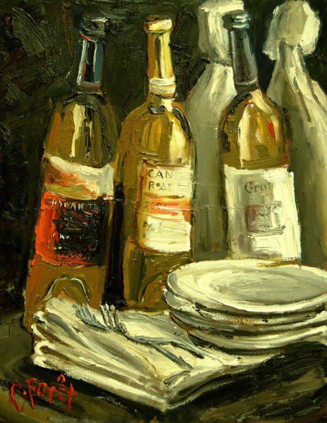 Vino Painting - Dinner Party by Carole Foret