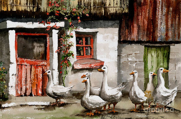 Painting - Back To Reality by Val Byrne