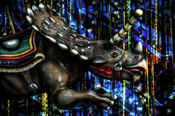 Photograph - Dinosaur Carousel by Michael Arend