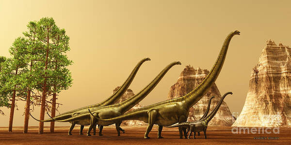 Primeval Painting - Dinosaur Sunset by Corey Ford