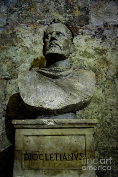 Photograph - Diocletian Scuplture In The Cellers Of Diocletian's Palace, Split, Croatia by Global Light Photography - Nicole Leffer