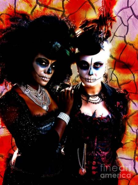 Digital Art - Diosas Del Dia De Los Muertos by Lita Kelley