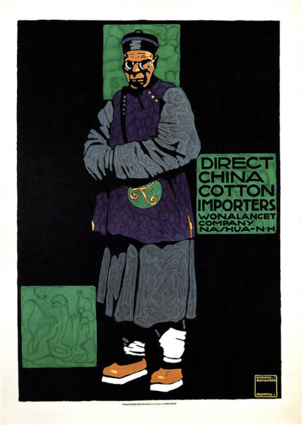 Clothing Mixed Media - Direct China Cotton Importer - Wonalancet Company - Vintage Advertising Poster by Studio Grafiikka