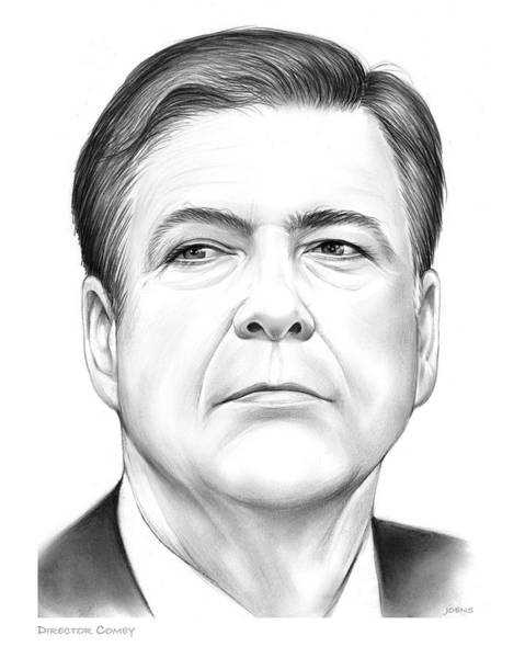 Political Wall Art - Drawing - Director Comey by Greg Joens