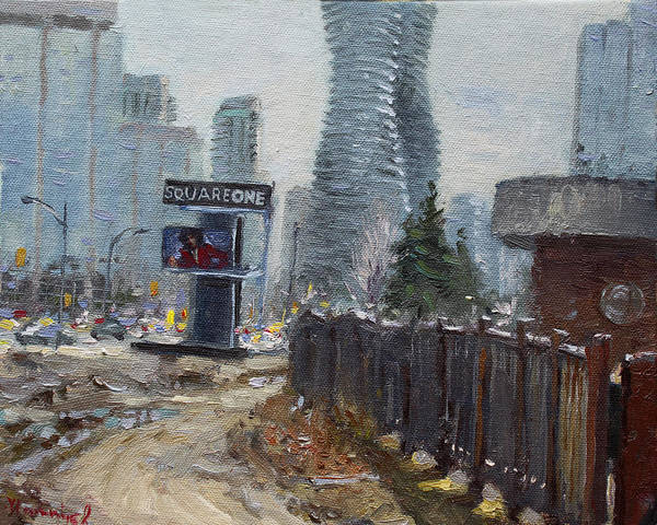 Square Tower Painting - Square One Mississauga by Ylli Haruni