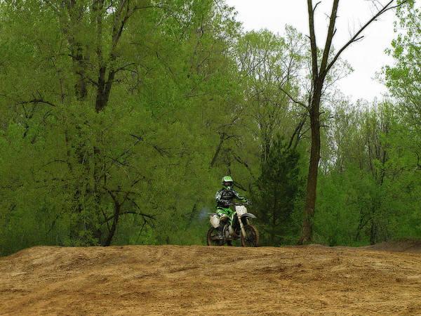 Dirt Bike Photograph - Dirt Bike Rider by Scott Hovind