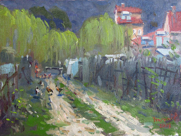Wall Art - Painting - Dirt Road To Elida's Garden by Ylli Haruni