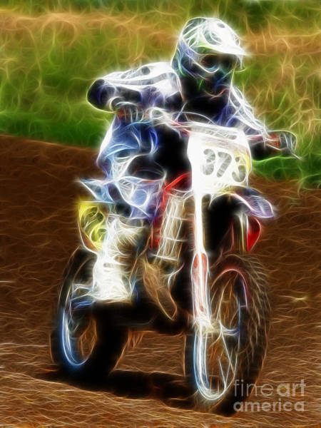 Dirtbike Photograph - Dirtbike Fractal by Steev Stamford