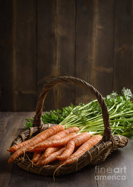Wicker Wall Art - Photograph - Dirty Carrots by Amanda Elwell