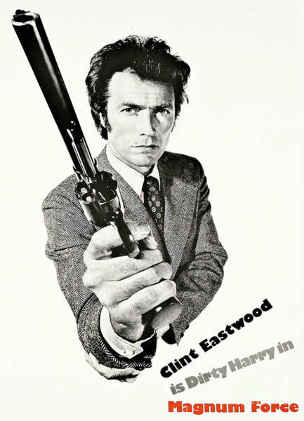 Wallpaper Mixed Media - Dirty Harry, Magnum Force, Clint Eastwood by Thomas Pollart