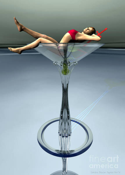 Digital Art - Dirty Martini by Sandra Bauser Digital Art