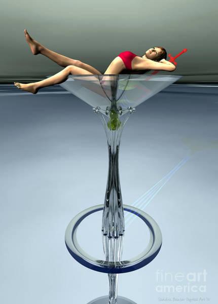Daz Wall Art - Digital Art - Dirty Martini by Sandra Bauser Digital Art