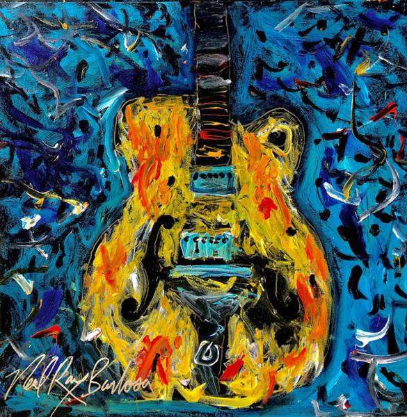 Painting - Dirty Sweet Guitar by Neal Barbosa