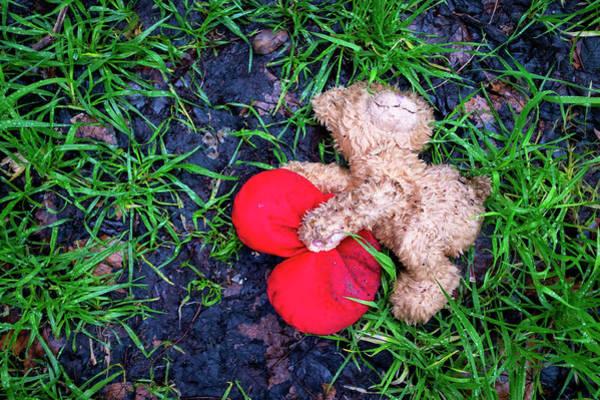 Photograph - Discarded Teddy Bear by Fabrizio Troiani