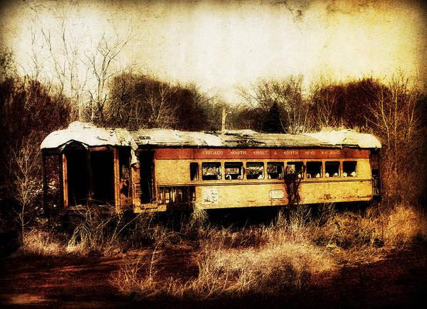 Discarded Train Art Print