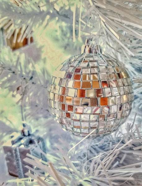 Photograph - Disco Ball Tree Ornament by Mary Capriole
