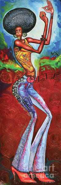 Wall Art - Painting - Disco Queen by The Art of DionJa'Y