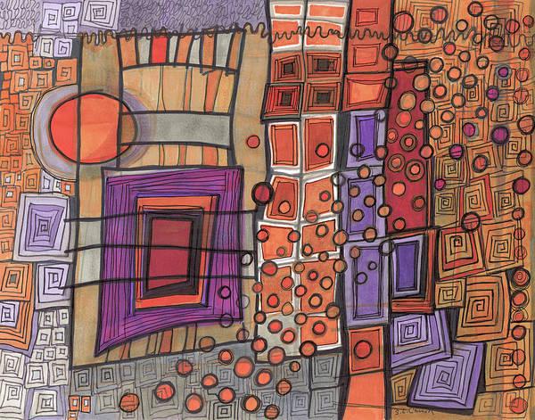 Semi Abstract Drawing - Discombobulated by Sandra Church