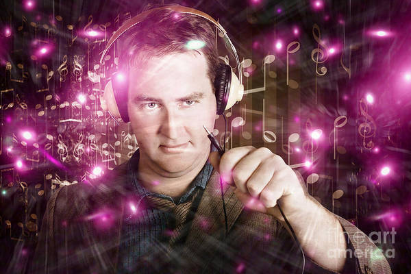 Photograph - Disconnected Male Dj Holding Unplugged Audio Jack by Jorgo Photography - Wall Art Gallery