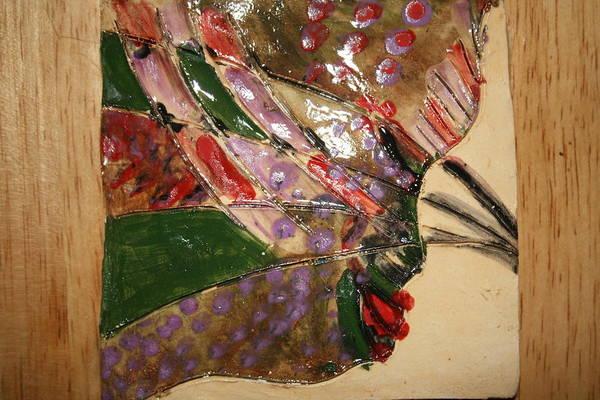 Ceramic Art - Discoqueen - Tile by Gloria Ssali