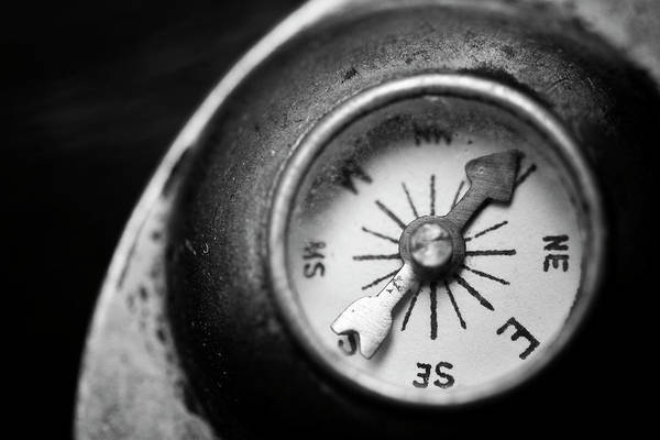 Founded Photograph - Discovering My Compass by Matthew Blum