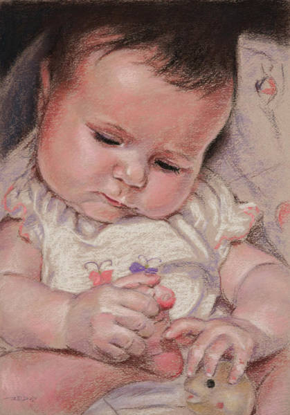 Pastel - Discovering Toes by Christopher Reid