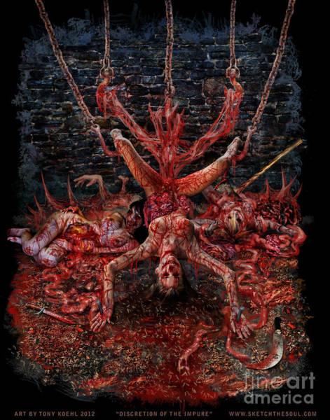 Mixed Media - Discretion Of The Impure by Tony Koehl