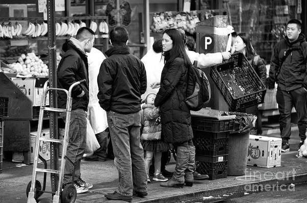 Photograph - Discussion On Mott Street by John Rizzuto