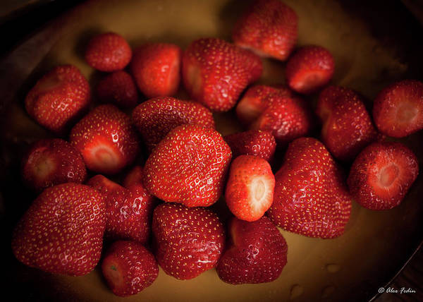 Photograph - Dish Of Strawberries by Alexander Fedin