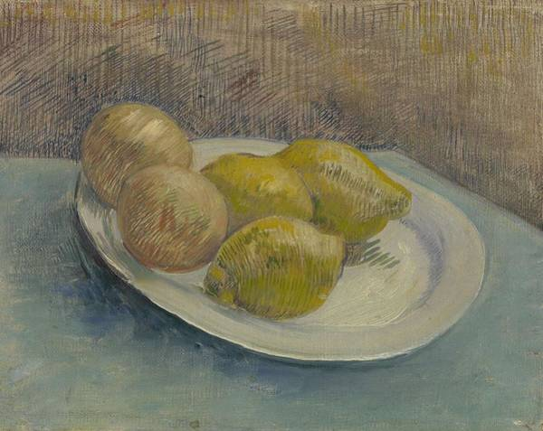 Painting - Dish With Citrus Fruit Paris, February - March 1887 Vincent Van Gogh   1853  1890 by Artistic Panda