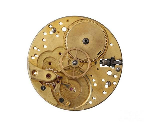 Wall Art - Photograph - Dismantled Clockwork Mechanism by Michal Boubin