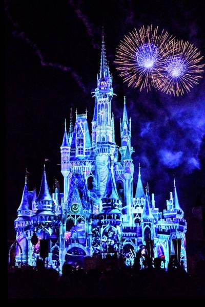 Fireworks Show Wall Art - Photograph - Disney 4 by Janet Fikar