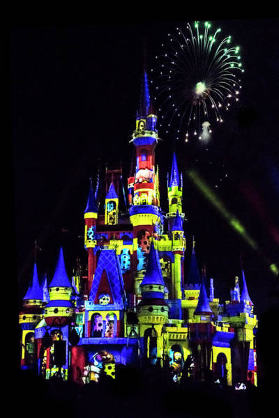 Fireworks Show Wall Art - Photograph - Disney 8 by Janet Fikar